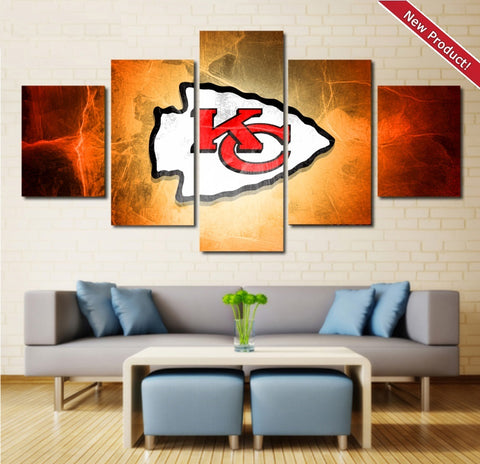 Kansas City Chiefs Wall Art | Canvas Painting Framed