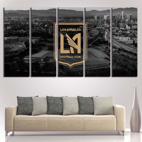 LAFC Los Angeles Football Club Wall Art | Canvas Painting Framed