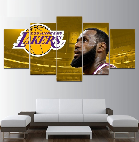 Lakers Lebron James Wall Art | NBA Canvas Painting Framed