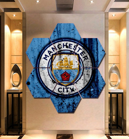 Manchester City F.C. Wall Art | Canvas Painting Framed