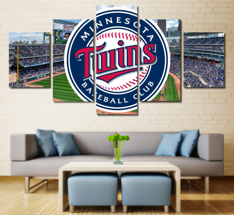Minnesota Twins Painting Canvas Wall Art Poster Framed