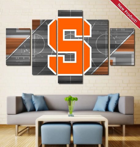 Syracuse Basketball Wall Art Painting Canvas Poster Framed
