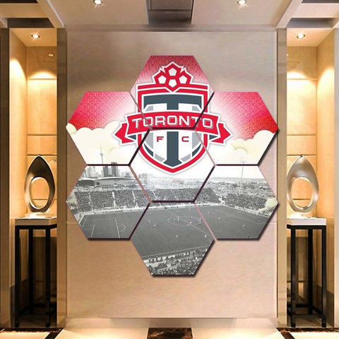 Toronto FC Wall Art | FTC Canvas Painting Framed