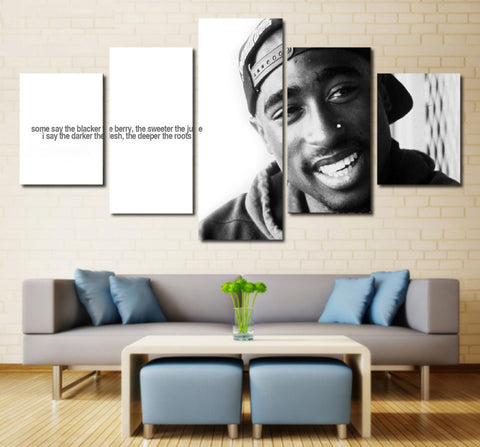 Tupac Amaru Shakur Wall Art | Canvas Painting Framed | 2 Pac Quote