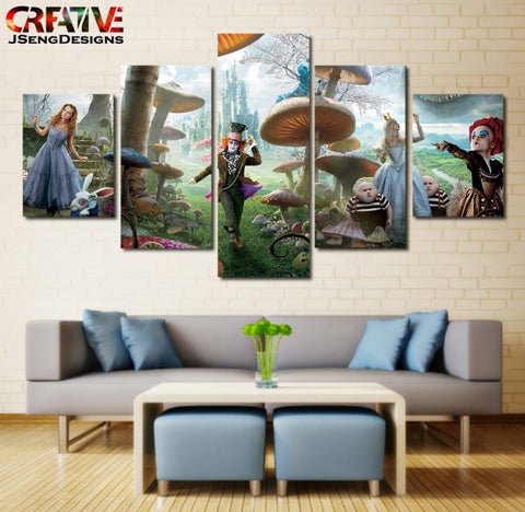 Alice in Wonderland Wall Art | Canvas Painting Framed