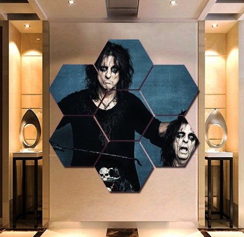 Alice Cooper Wall Art | Canvas Painting | Decor Poster Framed