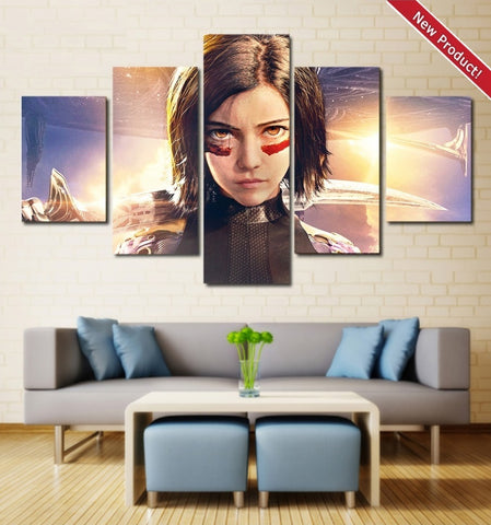 Alita Battle Angel Wall Art | Canvas Painting Framed