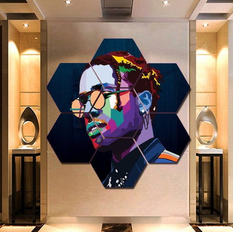 Rapper ASAP Rocky Wall Art | Canvas Painting Framed