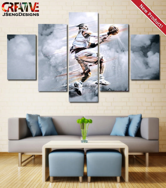 Allen Iverson Poster Home Decor Print HD Wall Art Painting On Canvas 76ers.