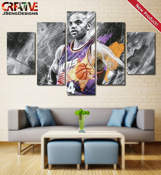 Charles Barkley Poster Home Decor Print HD Wall Art Painting On Canvas.