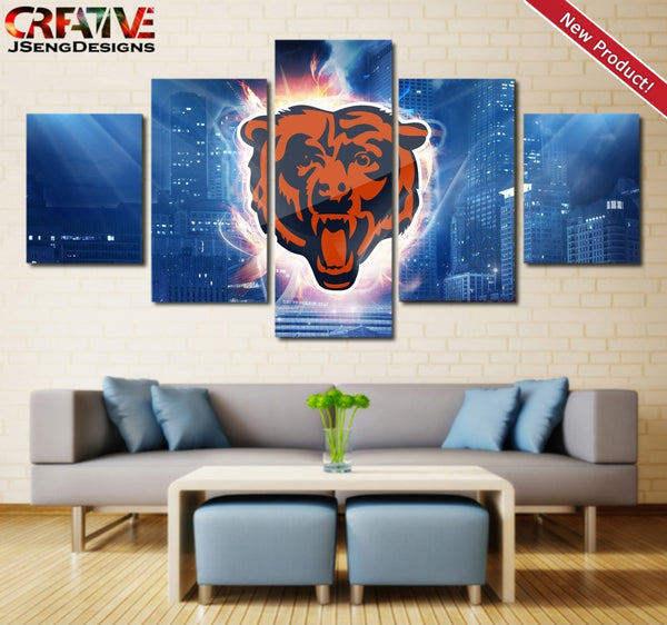 Chicago Bears Wall Art Canvas Print Home Decor Painting Poster NFL