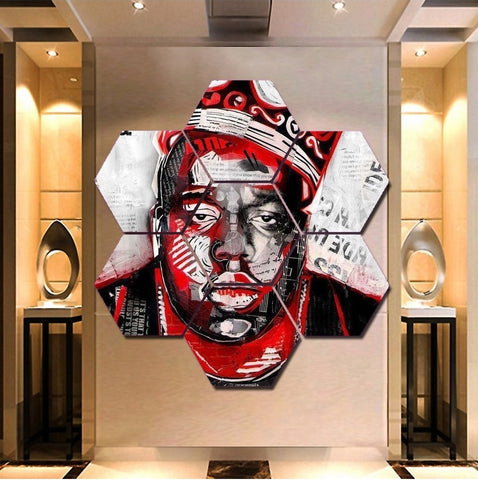 Biggie Smalls Wall Art | Canvas Painting | Decor Poster Framed