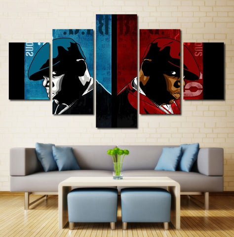 BIG Biggie Smalls Wall Art | Canvas Painting Framed | Notorious