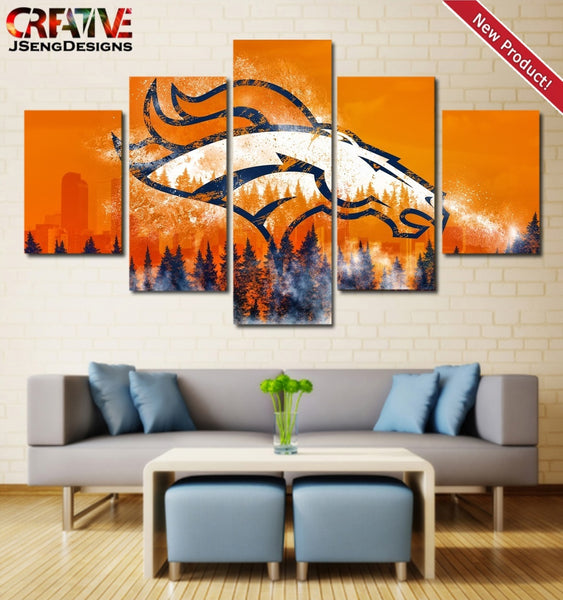 Denver Broncos Wall Art Painting Canvas Poster Framed