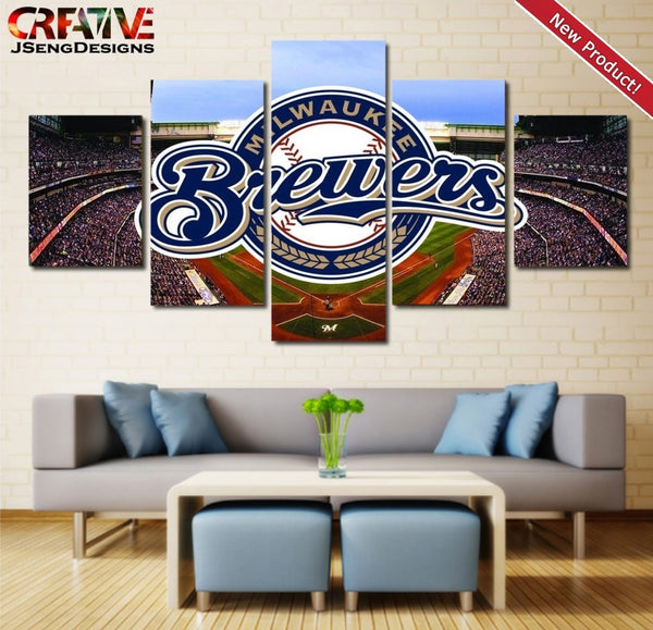 Milwaukee Brewers Wall Art Oil Painting On Canvas Poster HD Print Home Decor.