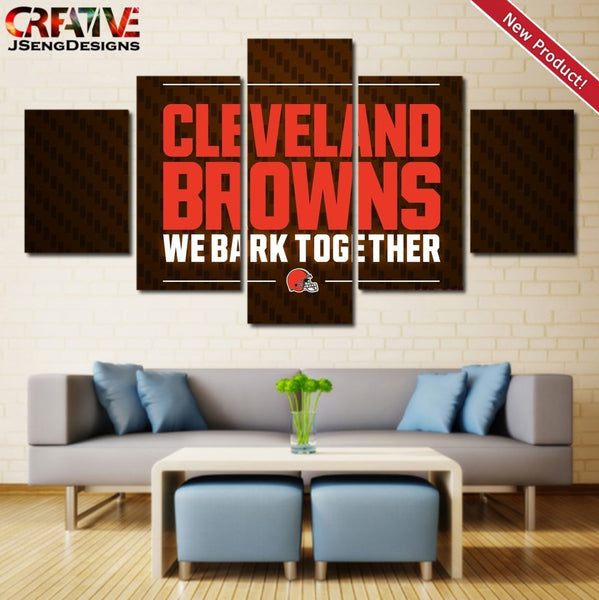 Cleveland Browns Wall Art Canvas Print Framed Home Decor Painting Poster NFL