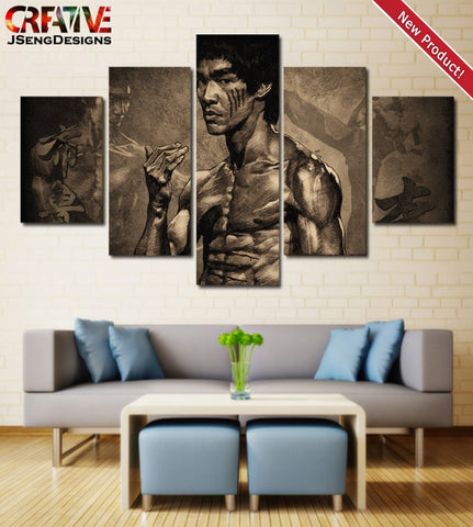 Martial Artist Bruce Lee Wall Art