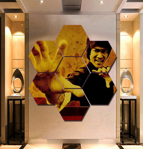 Bruce Lee Wall Art | Canvas Painting Framed | Free Shipping