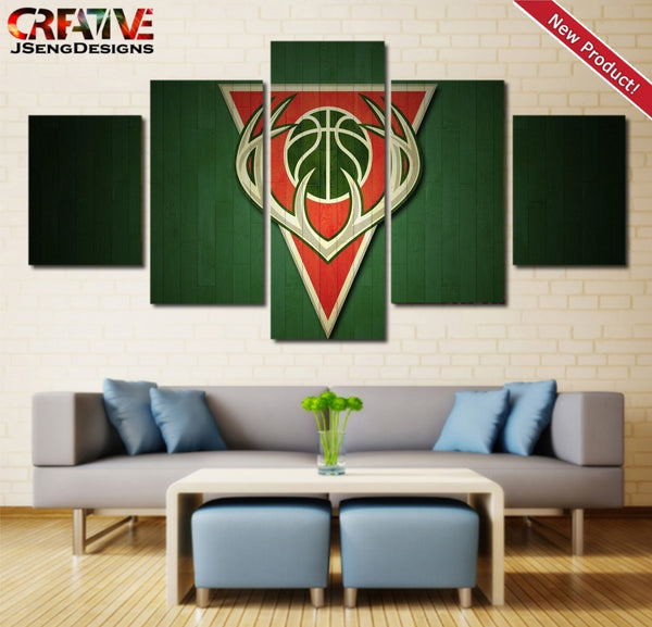 Milwaukee Bucks Wall Art Canvas Painting Print Home Decor Poster.