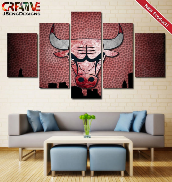 Chicago Bulls Wall Art Poster Home Decor Print HD Painting On Canvas.