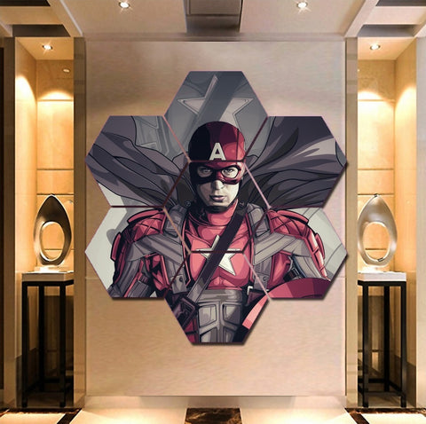 Marvel Captain America Wall Art | Canvas Painting Framed | Free Shipping