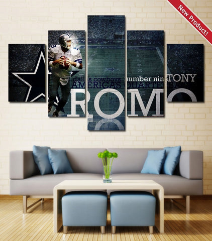 Dallas Cowboys Tony Romo Wall Art | Canvas Painting Framed