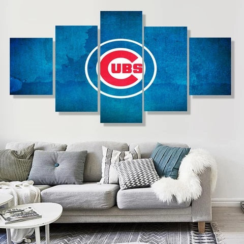 Chicago Cubs Wall Art Painting Canvas Framed Poster Decor