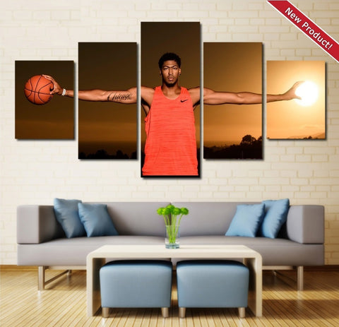 Anthony Davis Wall Art Canvas Framed Painting