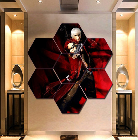 Devil May Cry Wall Art | Canvas Painting Framed | 50% Off
