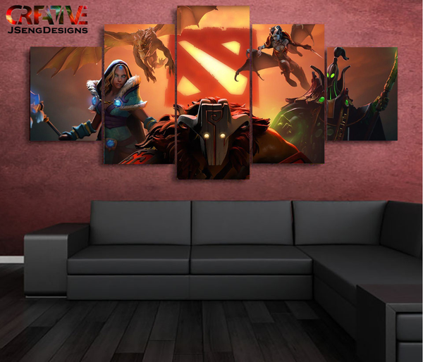 Dota 2 Painting On Canvas Wall Art  Print HD Poster Home Decor.
