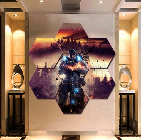 Gears of War Wall Art | Canvas Painting Framed