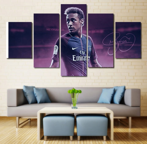 Neymar Wall Art | Canvas Painting Framed