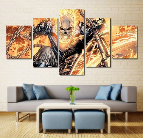 Marvel Comics Ghost Rider Wall Art | Canvas Painting Framed