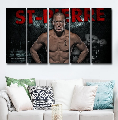 GSP Georges St-Pierre Wall Art Canvas Decor Poster Framed