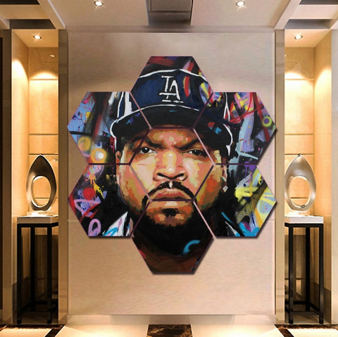 Hip Hop NWA Ice Cube Wall Art | Canvas Painting Framed