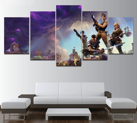 Fortnite Battle Royale Canvas Painting Framed | Home Decor