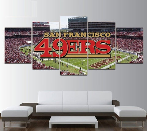 San Francisco 49ers Wall Art Canvas Decor.