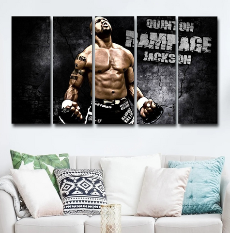 Quinton Rampage Jackson Wall Art Canvas Decor Poster Framed