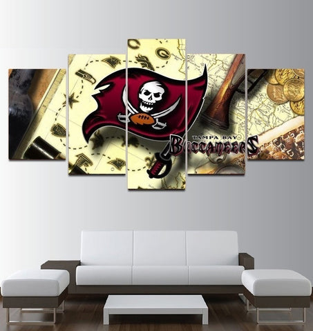 Tampa Bay Buccaneers Painting Canvas Wall Decor Poster | Free Shipping