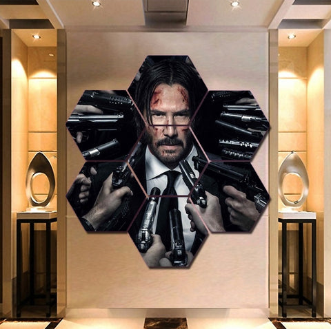 Keanu Reeves John Wick Wall Art | Canvas Painting Framed