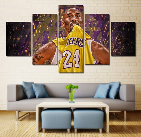 Kobe Bryant Canvas Art | Basketball Poster Printed | Wall Decor