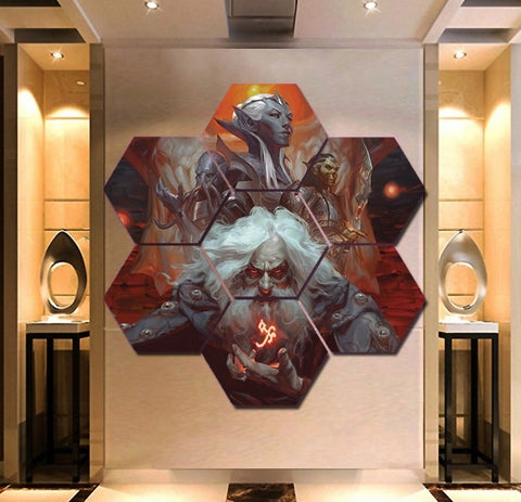 Dungeons & Dragons Wall Art | Canvas Painting Framed