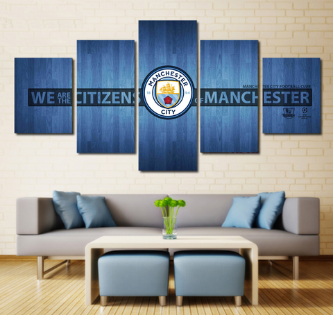 Manchester City F.C. Wall Art Canvas Painting | Free Shipping