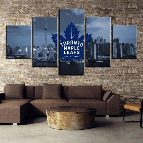 Toronto Maple Leafs Canvas Painting Poster Framed | Free Shipping