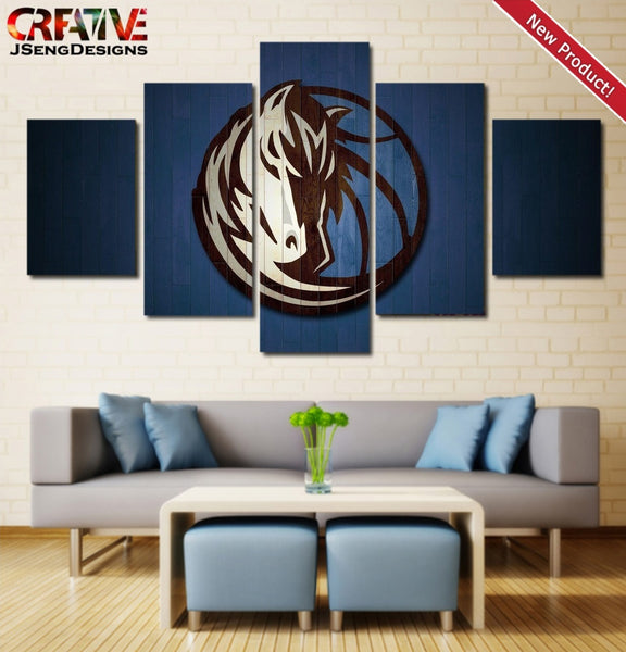 Dallas Mavericks Wall Art Canvas Framed NBA Home Decor.