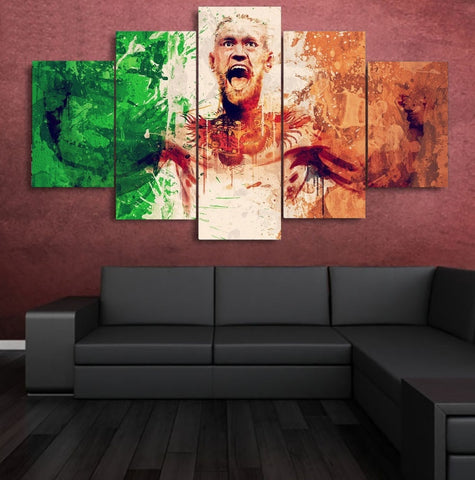 Conor McGregor Wall Art Canvas Painting Poster Print 5 Piece Decor