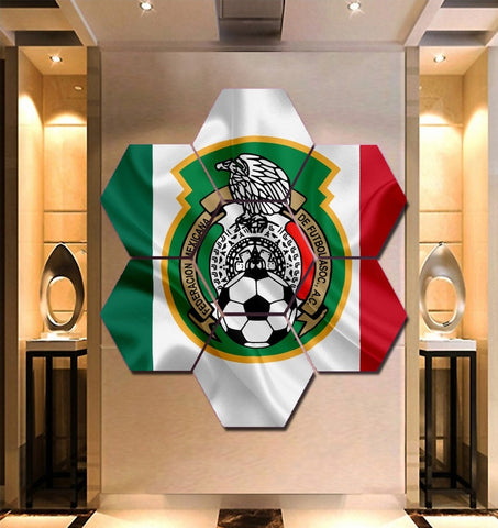 Mexico National Football Wall Art | Canvas Painting Framed