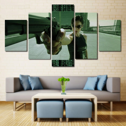 Trinity The Matrix Wall Art Canvas Framed Painting