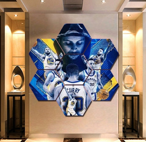 Stephen Curry Wall Art | Canvas Painting Framed | Warriors