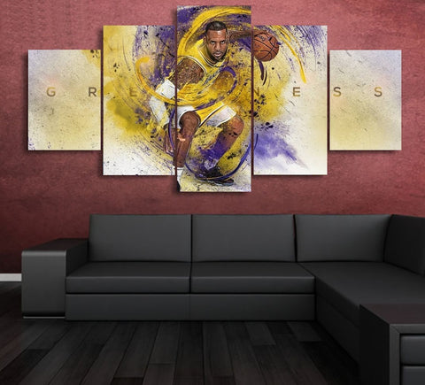 King Lebron James Canvas | Lakers Wall Art Decor Framed